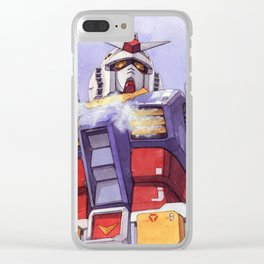 Gundam Rx-78-2 watercolor (large ver.) Clear iPhone Case