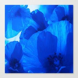 Blue Poppies #decor #society6 #buyart Canvas Print