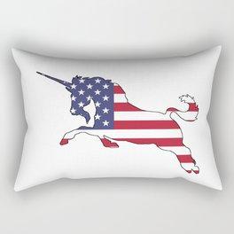 "Unicorn ""American Flag"" Rectangular Pillow"