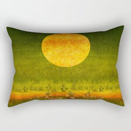 """Green Lemon Sunset"" Rectangular Pillow"