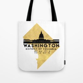 WASHINGTON D.C. DISTRICT OF COLUMBIA SILHOUETTE SKYLINE MAP ART Tote Bag