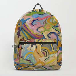 Abstract Maze of Green and Gold Backpack