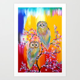 Abstract animals Art Print