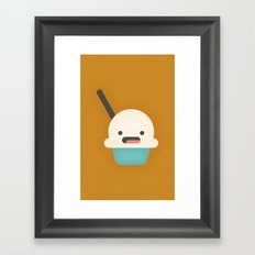Ice Cream Cup Framed Art Print