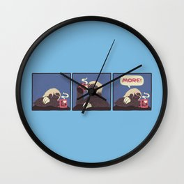 Sloth Coffee Wall Clock