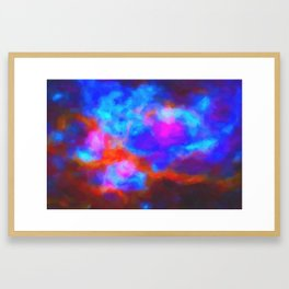 Abstract Galactic Nebula with cosmic cloud 7   24x16.. Framed Art Print