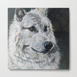 Spirit-White Wolf Metal Print