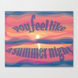 ~you feel like a summer night~ Canvas Print