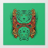 tigers Canvas Prints featuring Tigers by Ornaart