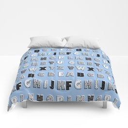 ABC Blue Comforters