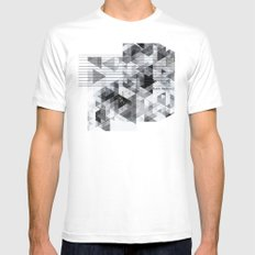 Marble madness Mens Fitted Tee White MEDIUM