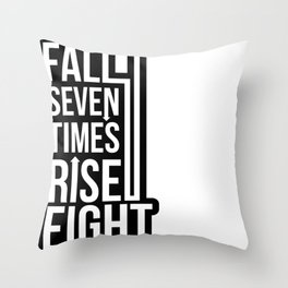 Rise (Black) Throw Pillow