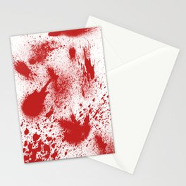 Bloody Blood Spatter Halloween Stationery Cards