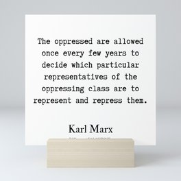 1  | Karl Marx Quotes | 190817 Mini Art Print