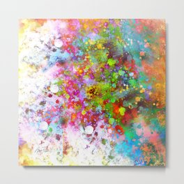 Color Splash abstract art by Ann Powell Metal Print