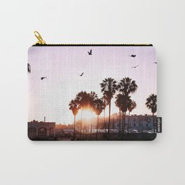 Venice Beach Palm Trees at Sunset Wall Art Carry-All Pouch