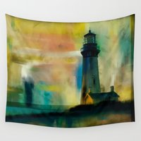 lighthouse Wall Tapestries featuring Lighthouse by Carles Marsal