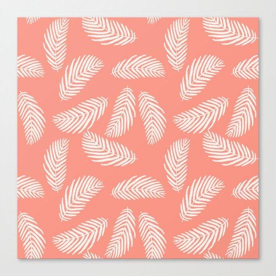 Palm trees pastel pink tropical minimal ocean seaside socal beach life pattern Canvas Print