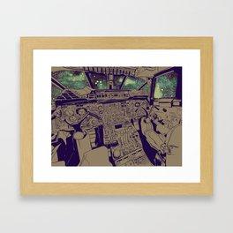 SpaceJet (Color) Framed Art Print