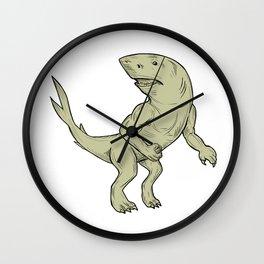 Nanaue Fighting Stance Drawing Wall Clock
