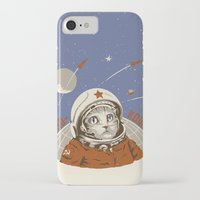 soviet iPhone & iPod Cases featuring Soviet Space Cat by Chris Kawagiwa