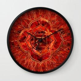 Root chakra - Muladhara  Wall Clock