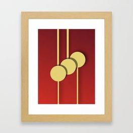 Lampions Framed Art Print
