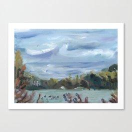 Overcast Lake Canvas Print