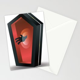 Horror coffin Stationery Cards