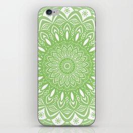 Light Lime Green Mandala Simple Minimal Minimalistic iPhone Skin