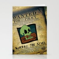 monkey island Stationery Cards featuring Monkey Island - WANTED! Murray, the Skull by Sberla
