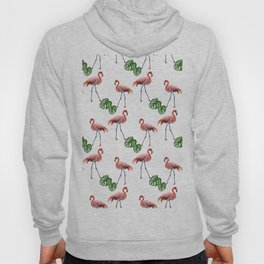 Flamingo & monstera pattern Hoody