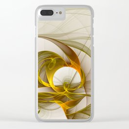 Fractal Art Precious Metals, Abstract Graphic Clear iPhone Case