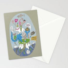 Bonjour Cats Stationery Cards