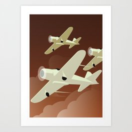 Airplanes Art Print