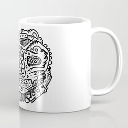 Going Places abstract creature doodle Coffee Mug