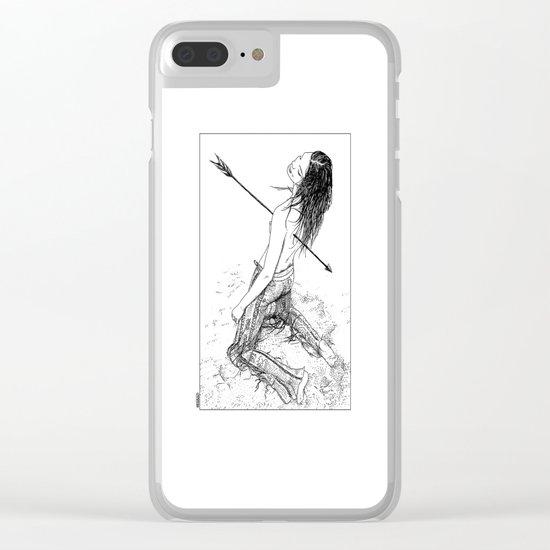 asc 156 - La flèche noire Clear iPhone Case
