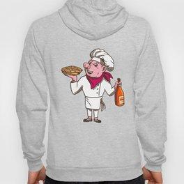 Pig Cook Pie Wine Bottle Cartoon Hoody