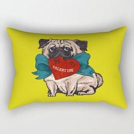 Be My Valentine Pug Rectangular Pillow