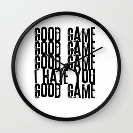 Good Game I Hate You Online Multiplayer Video Games Black Wall Clock