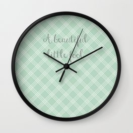 Great Gatsby - A Beautiful Little Fool  Wall Clock