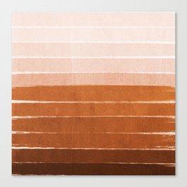 Sunset - rust, terracotta, clay, desert, sunshine, boho, ombre, paint, sunset colors,  Canvas Print