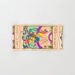 Tarot Card-The Wheel of Fortune-La Roue de la Fortune Hand & Bath Towel
