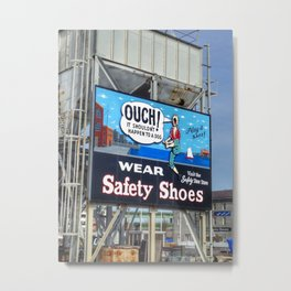 Ouch! Metal Print
