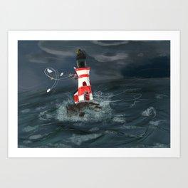 Gust of wind. Art Print