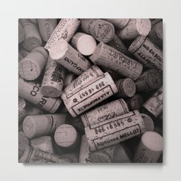 Bunch of Corks Metal Print