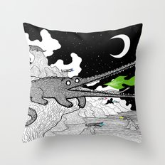 Crocodiles Throw Pillow