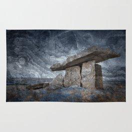 Poulnabrone Dolmen - Blue Winter Grunge Rug
