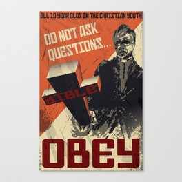Anti-indoctrination Poster Canvas Print