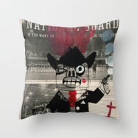 the national Throw Pillows featuring national guard by Normunds Bruveris